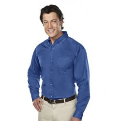 LONG SLEEVE STAIN RESISTANT BUTTON DOWN SHIRT