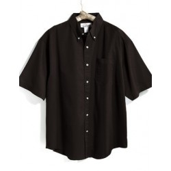 SHORT SLEEVE STAIN RESISTANT BUTTON DOWN SHIRT