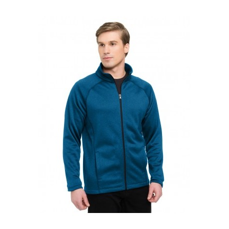 FULL ZIP HEATHER FLEECE JACKET