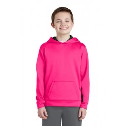 YOUTH MOISTURE WICKING COLORBLOCK HOODED SWEATSHIRT