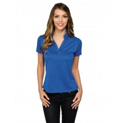 MOISTURE WICKING HEATHER POLO