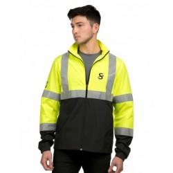 Safety Green/Black Lightweight Jacket