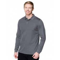 Snap Long Sleeve Moisture Wicking Polo