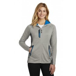 Eddie Bauer Ladies Sport Hooded Full-Zip Fleece Jacket