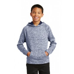 Sport-Tek Youth PosiCharge® Electric Heather Fleece Hooded Pullover